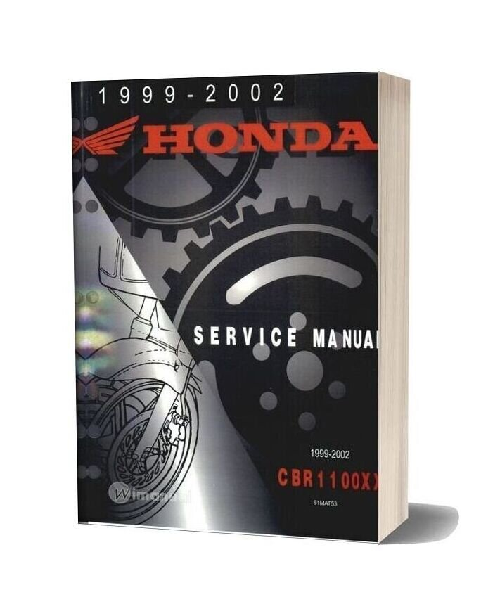 Honda 99 02 Cbr1100xx Service Manual