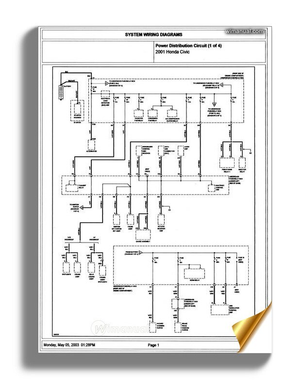 Honda Civic 2001 2003 Wiring Diagram