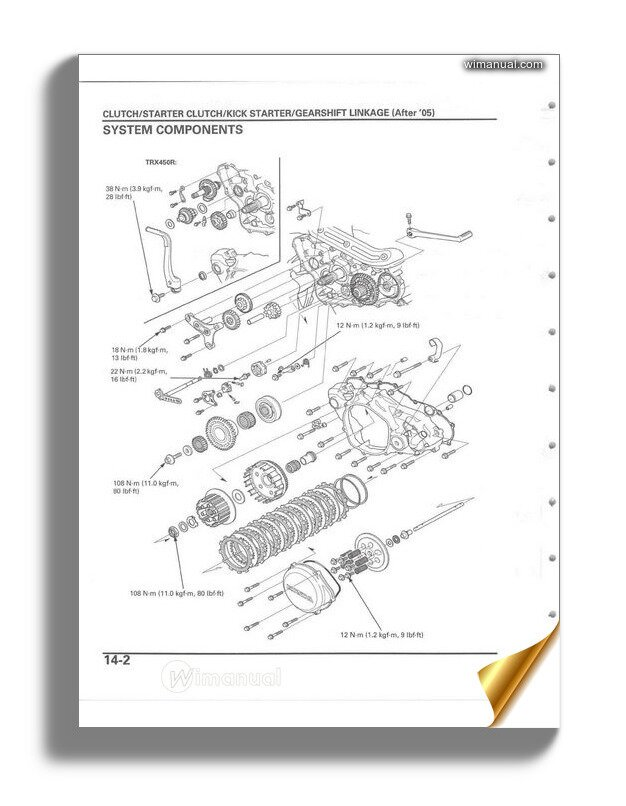 Honda Trx450r Trx450er 04 12 Repair Manual