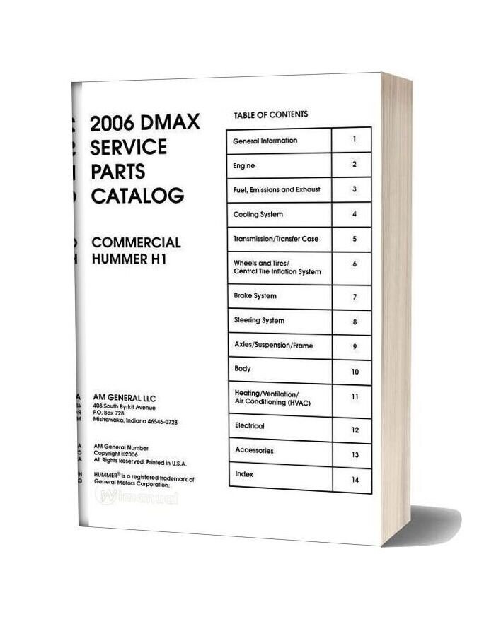 Hummer 2006 Parts Catalog