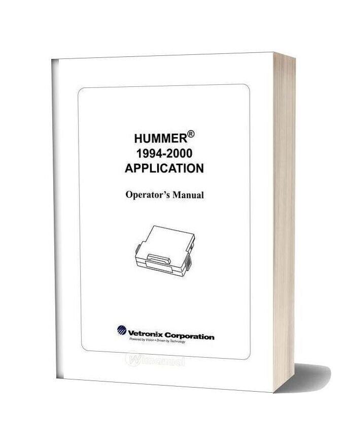 Hummer Operators Manual