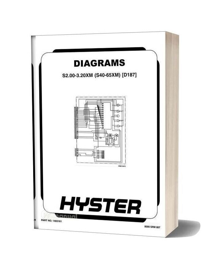 Hyster Electric Diagrams S2 00 3 20xm