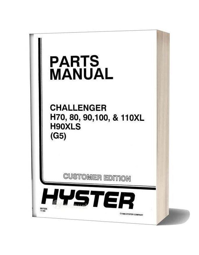 Hyster G005 Parts Manual