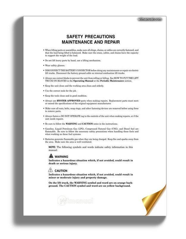 Hyster Transmission Repair Manual