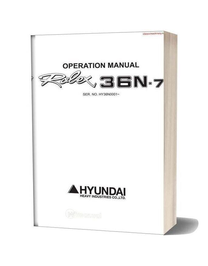 Hyundai Robex 36n 7 Operators Manual