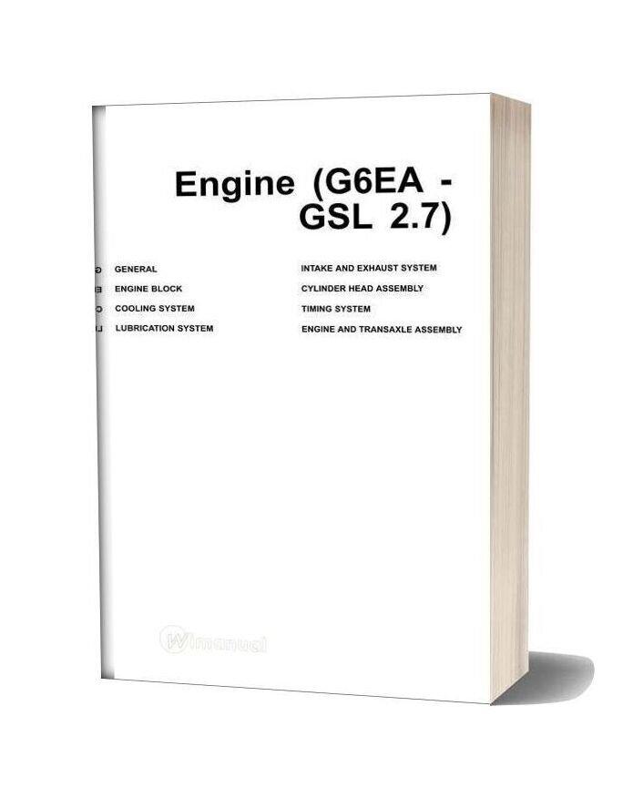 Hyundai Santafe Gsl 2 7 Engine Service Manual