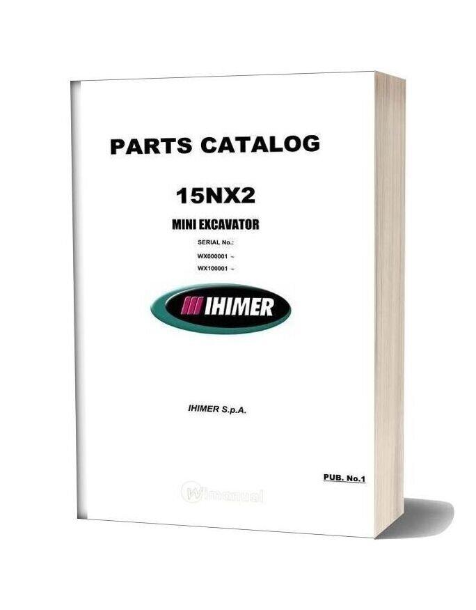 Ihi Mini Excavator 15nx2 R00 Parts Catalog