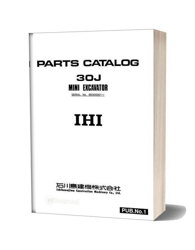 Ihi Mini Excavator 30j E Parts Catalog