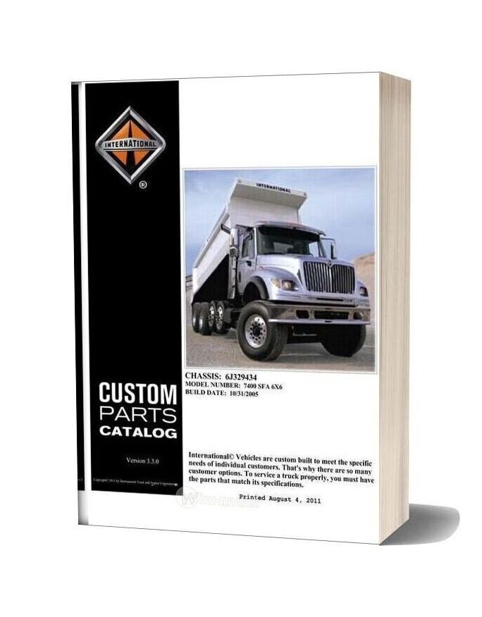International 7400 Parts Manual 2006