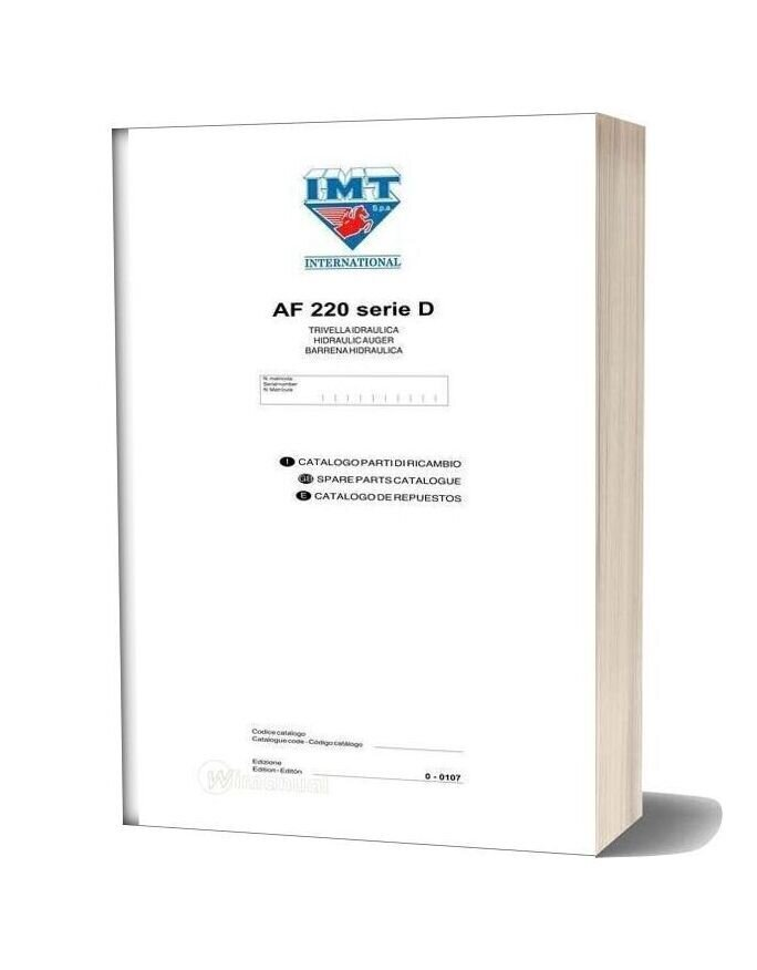 International Af220 Serie D Parts Catalogue