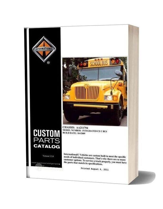 International Bus Parts Manual