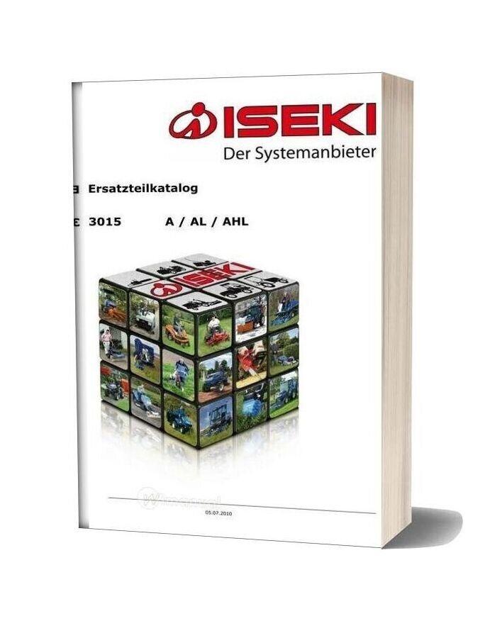 Iseki Tu315 3015 Parts Manual