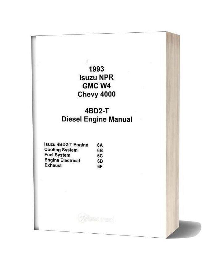 Isuzu 4bd2 T Diesel Engine Manual-15i17249