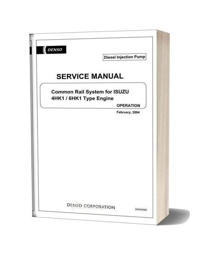 Isuzu Common Rail 4hk 6hk Service Manual