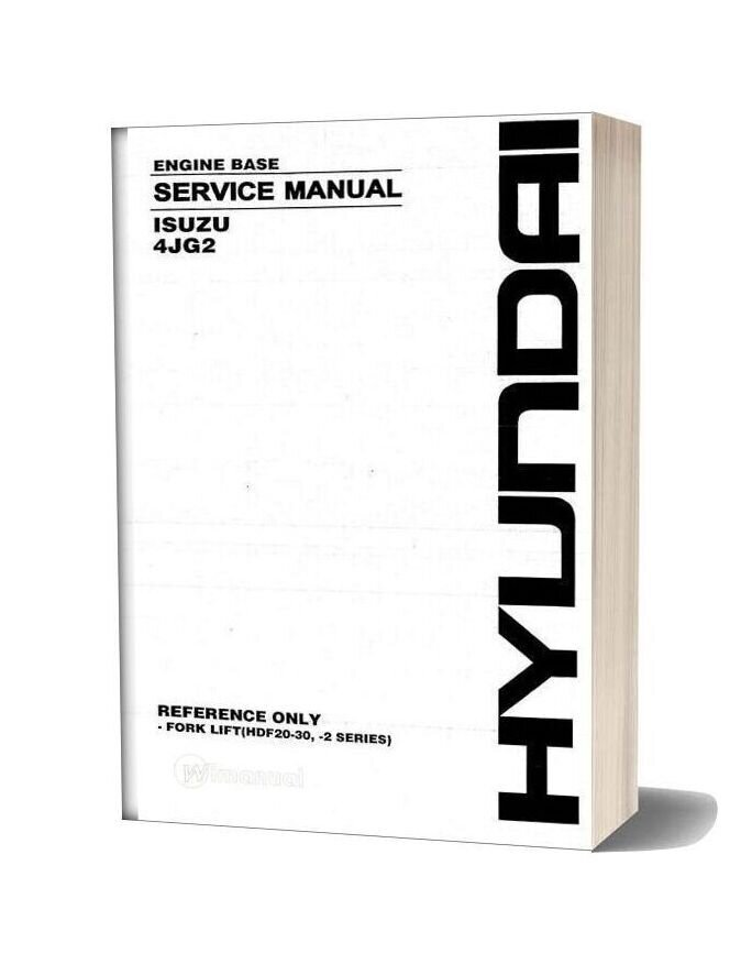 Isuzu Engine 4jg2 Service Manual