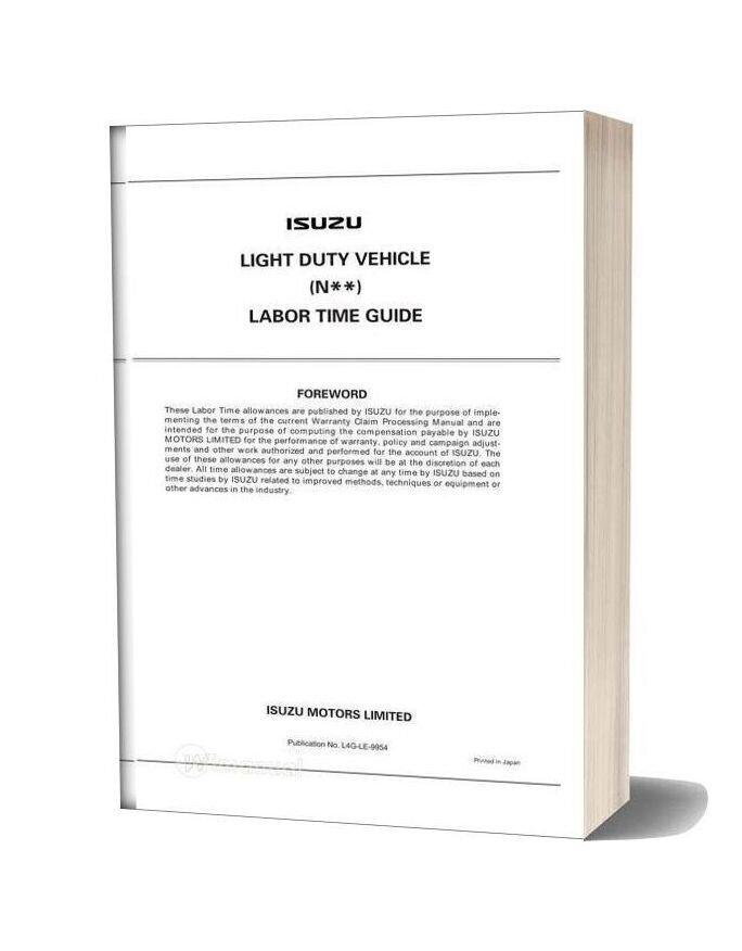 Isuzu Light Duty Vehicle Labor Time Guide
