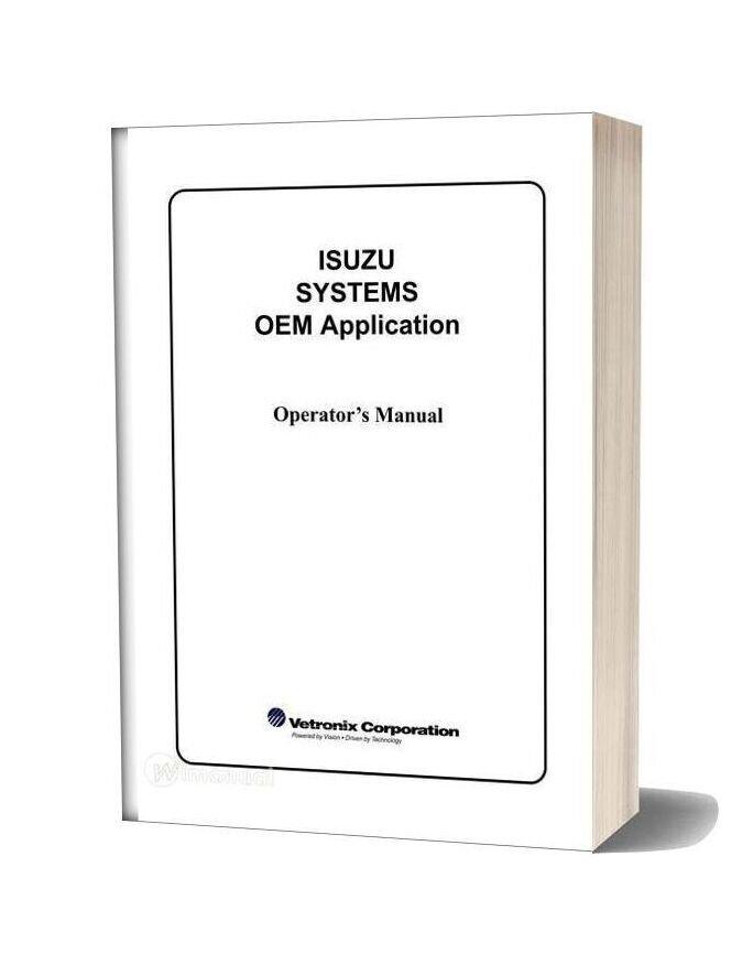 Isuzu Operators Manual