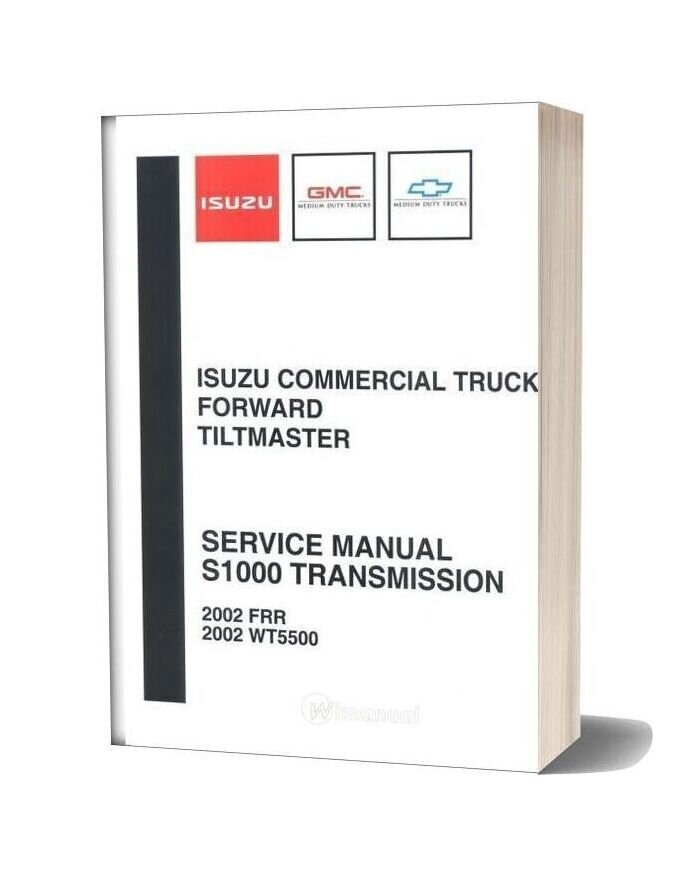 Isuzu Service Manual S1000 Transmission