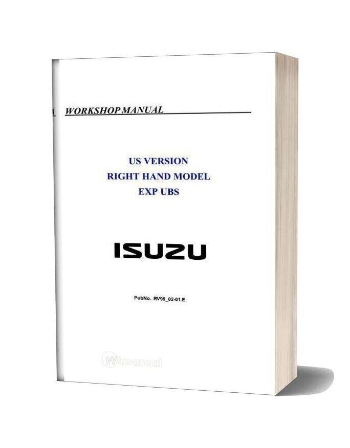 Isuzu Trooper 1998 1999 2000 2001 2002 Rhd Workshop Repair Manual