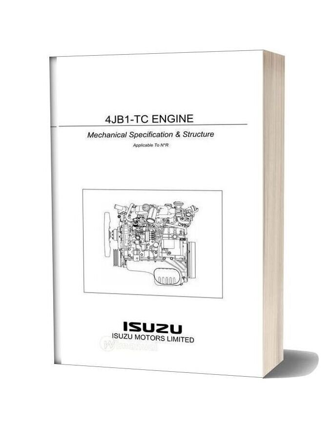 Isuzu Truck 4jb1 Tc Engine Mechanical Specification Structure