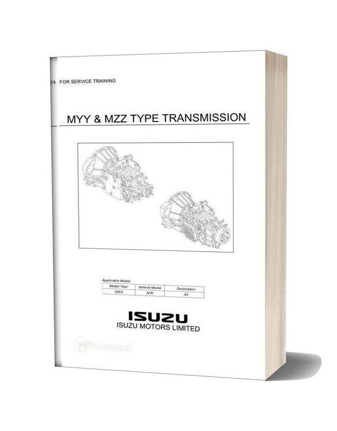 Isuzu Truck Training Myy Mzz Type Transmission-15i16513