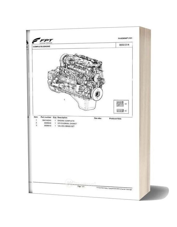 Iveco Fpt Spare Parts Catalog