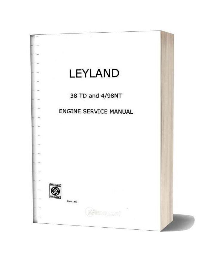 Jcb 3c Leyland 38td And 4 98nt Engine Service Manual