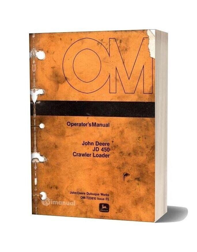 Jd 450 Operators Manual Crawler Loader