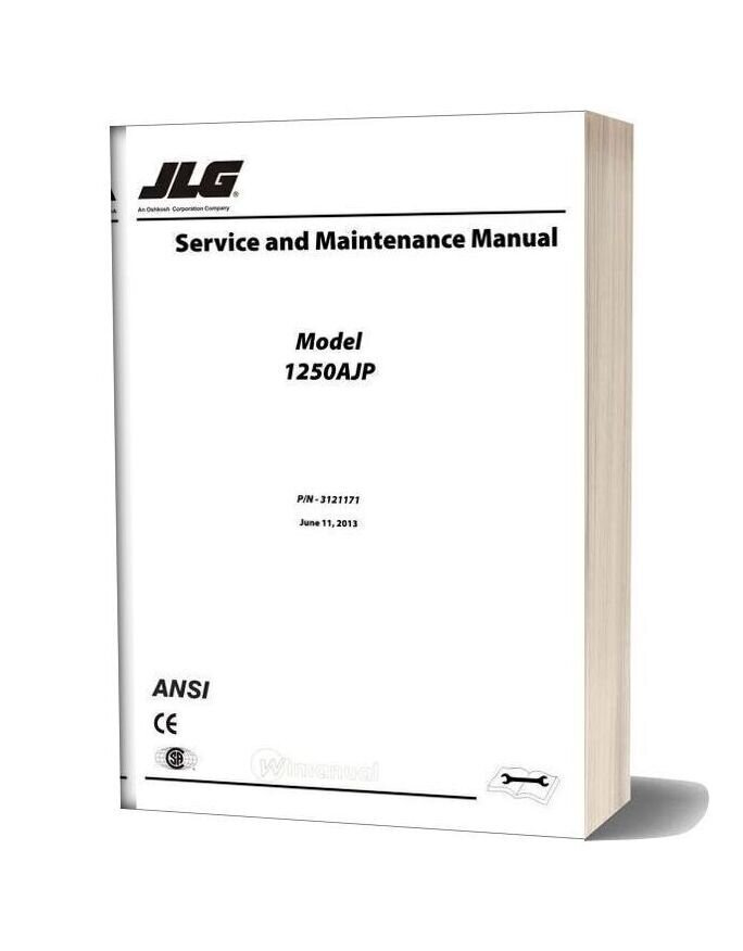 Jlg 1250ajp Boom Lift Service And Maintenance Manual