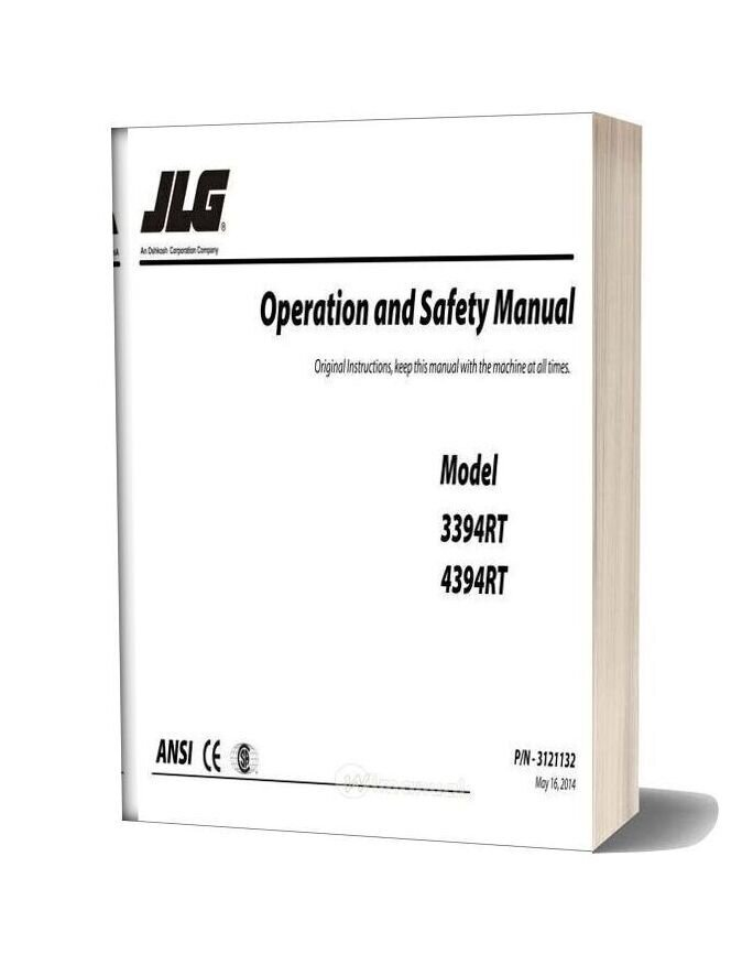 Jlg 3394rt & 4394rt Operation And Safety Manual