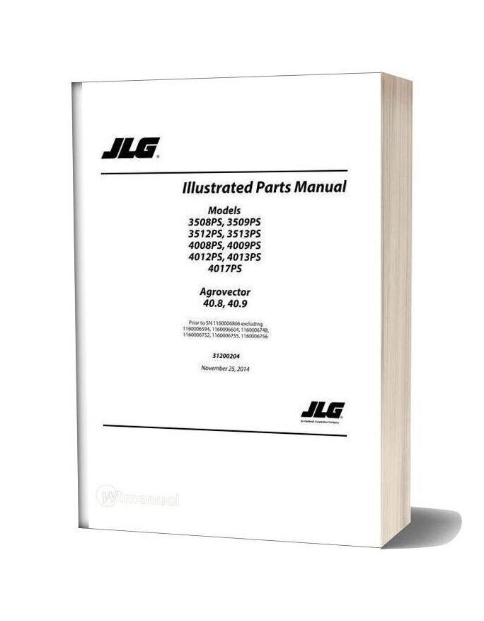 Jlg 3508ps Telehandler Parts Manual
