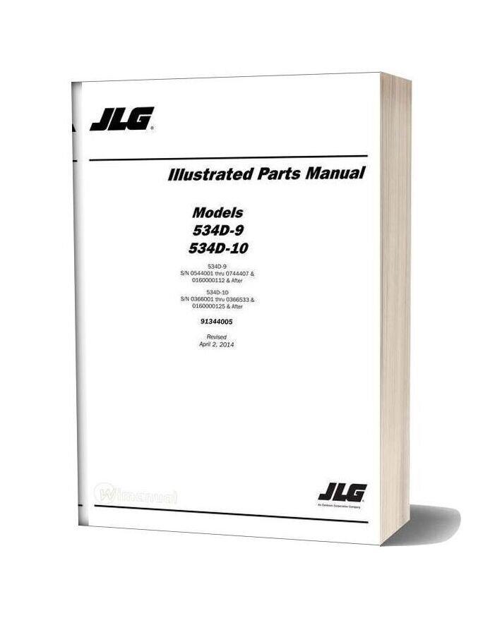 Jlg 534d 9 534d 10 Telehandler Parts Manual