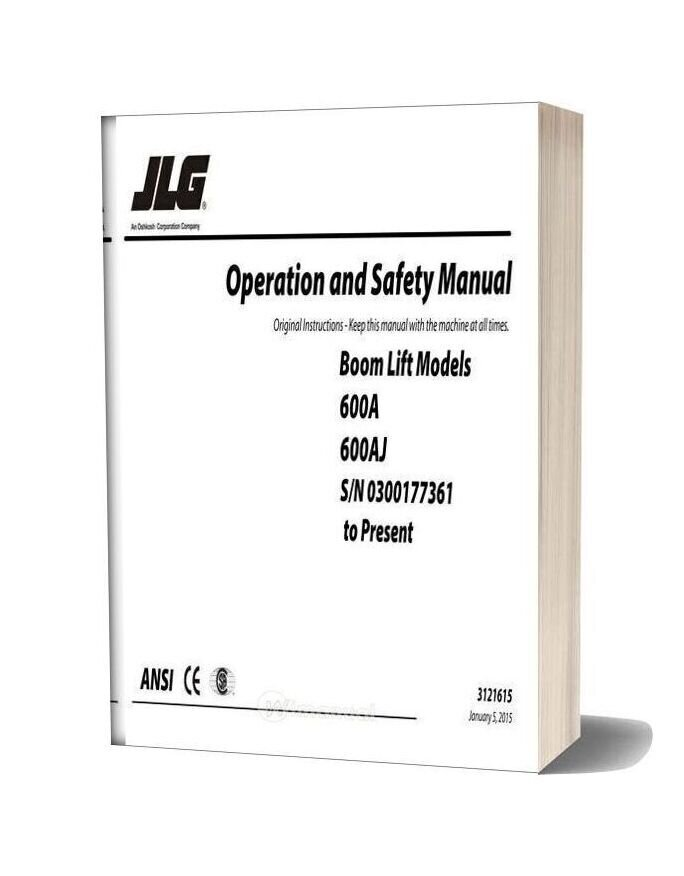 Jlg 600a & 600aj Operation & Safety Manual