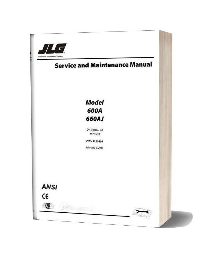 Jlg 600a & 600aj Service And Maintenance Manual