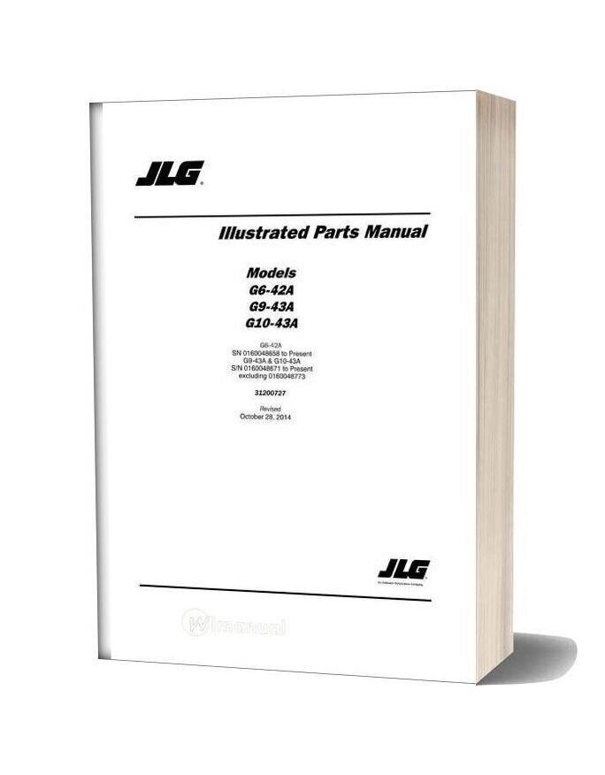 Jlg G10 43a Sn 0160048658 Present Telehandler Parts Manual