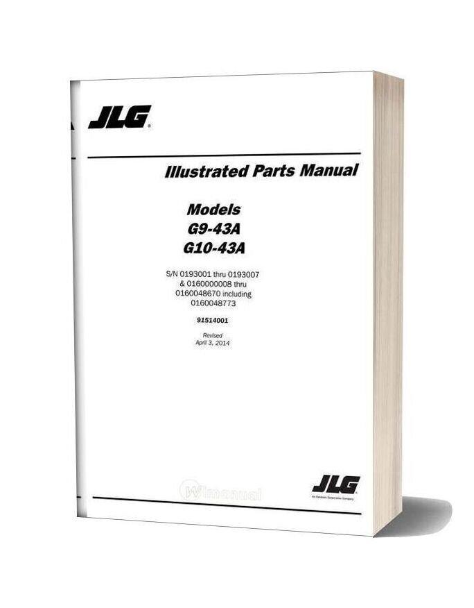 Jlg G10 43a Telehandler Parts Manual