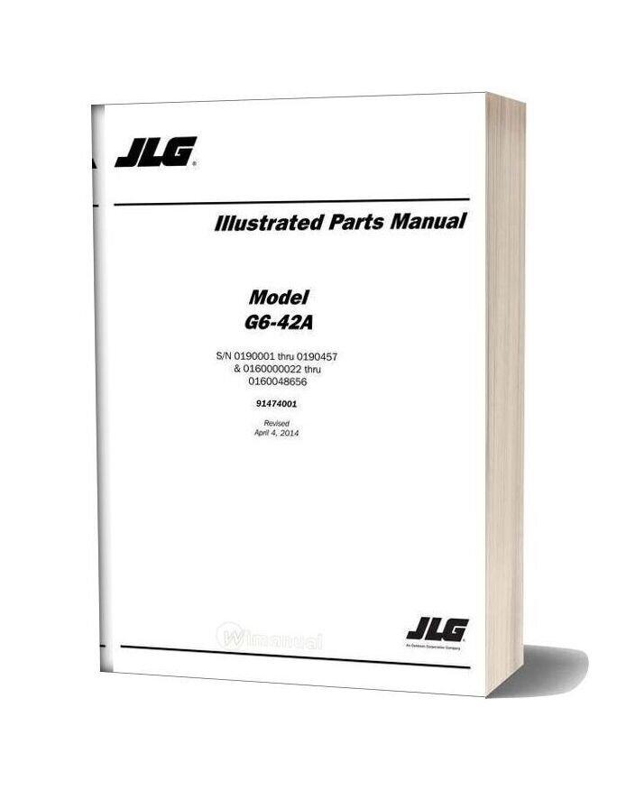 Jlg G6 42a Sn 0190001 Thru 0190457 Telehandler Parts Manual
