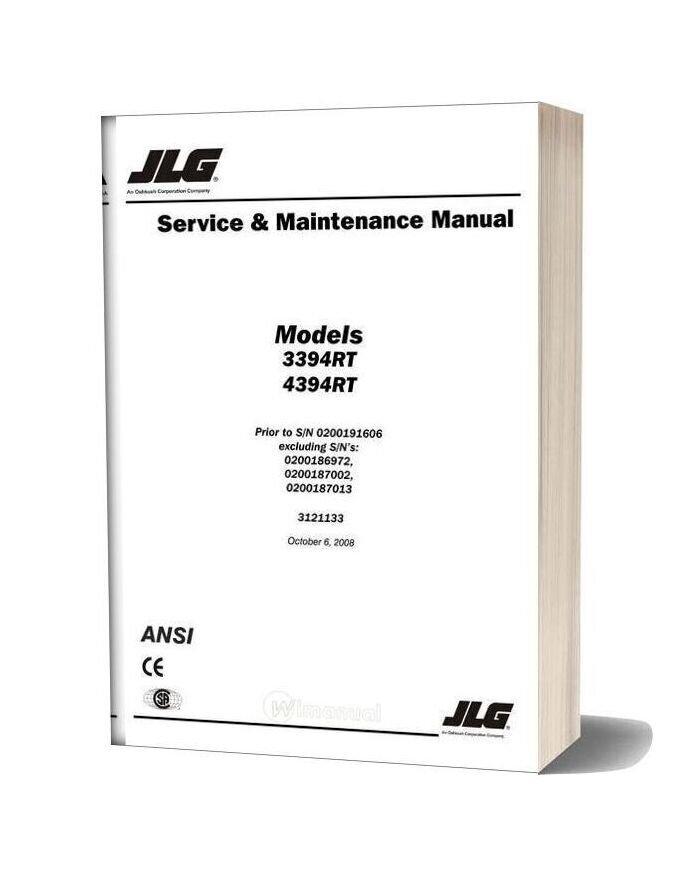 Jlg Service And Maintenance Manual (3394rt & 4394rt)