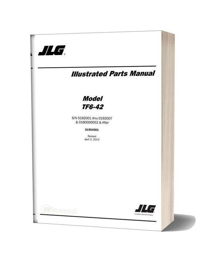 Jlg Tf6 42 Telehandler Parts Manual