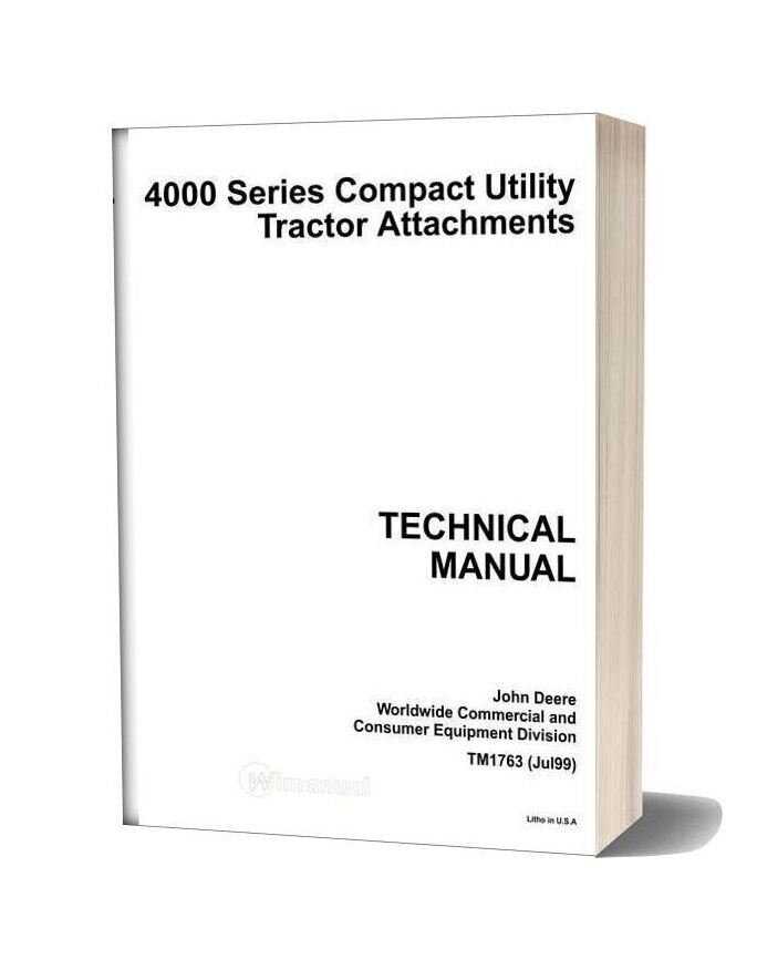 John Deere 4000 Series Technical Manual