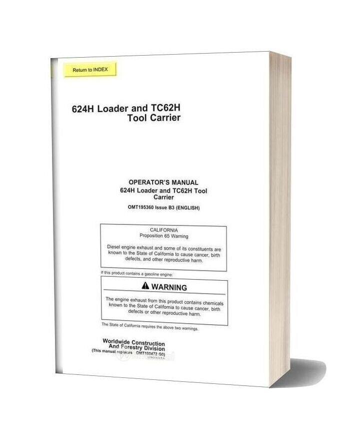 John Deere 624h Operator Manual