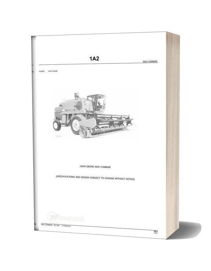 John Deere 6622 Combine Parts Book