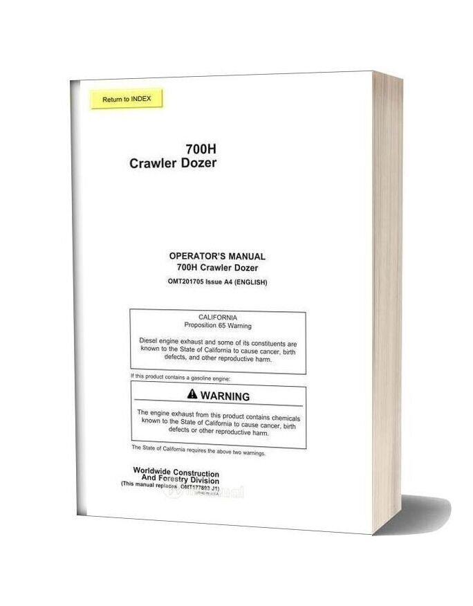 John Deere 700h Operator Manual