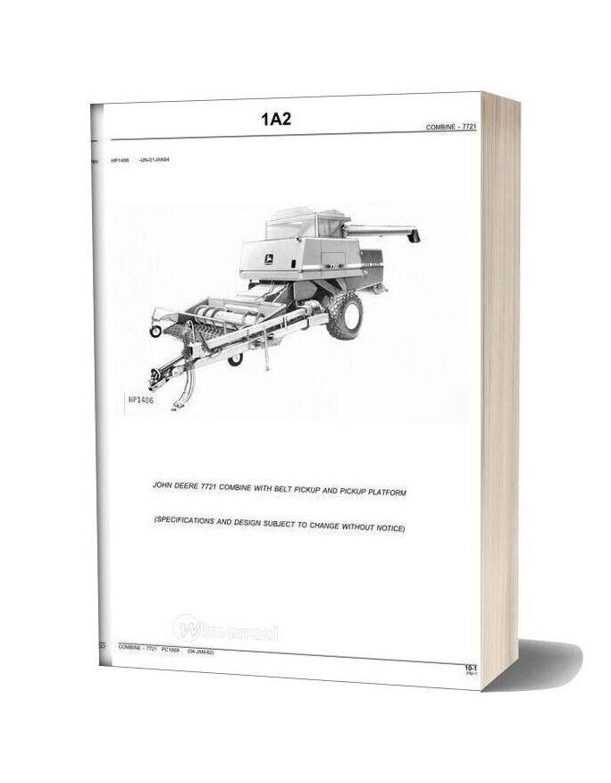 John Deere 7721 Parts Catalog