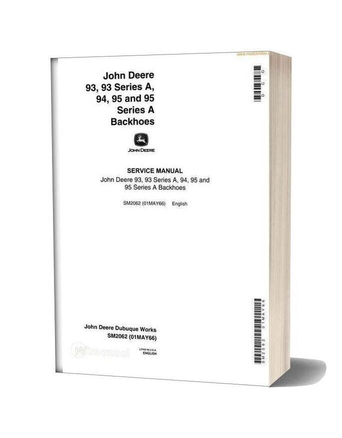 John Deere 93 95 Backhoe Service Manual En Sec Wat
