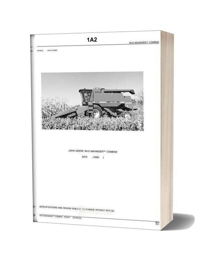 John Deere 9410 Parts Catalog