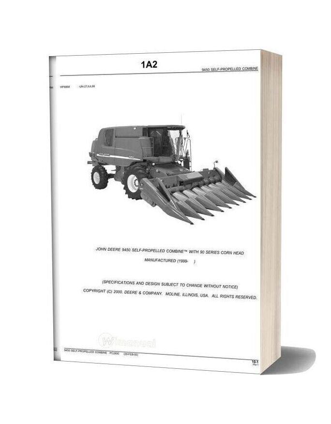 John Deere 9450 Parts Book