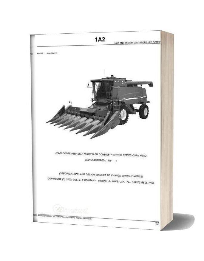 John Deere 9550 Parts Book