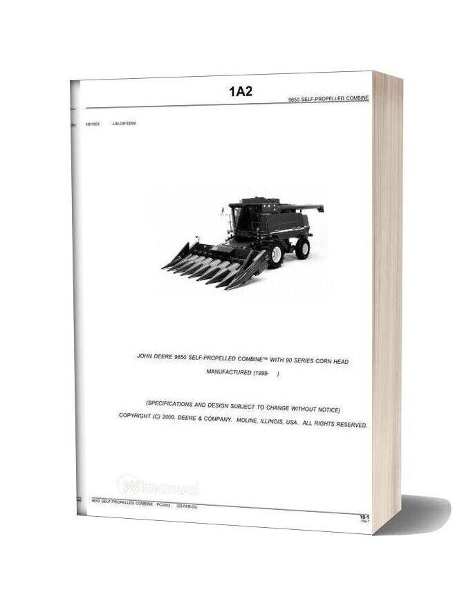 John Deere 9650 Parts Catalog