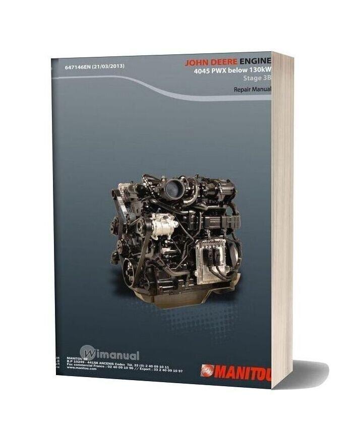 John Deere Engine 4045 Pwx Below 130kw Stage 3b